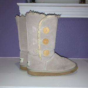 Cream UGG Boots Size 10